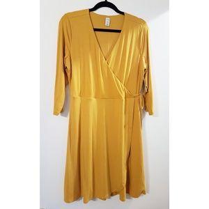 NWT Old Navy Petite Yellow Wrap Dress